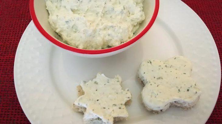Crema de branza cu ierburi aromatice