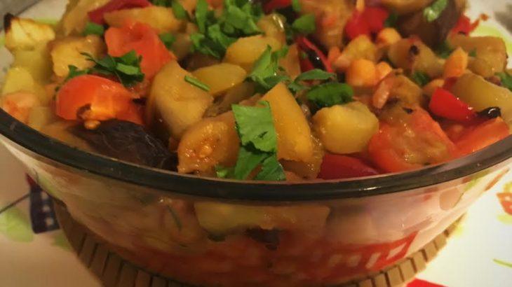 Mancare de naut cu legume coapte