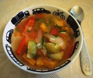 Supa de legume coapte cu orez